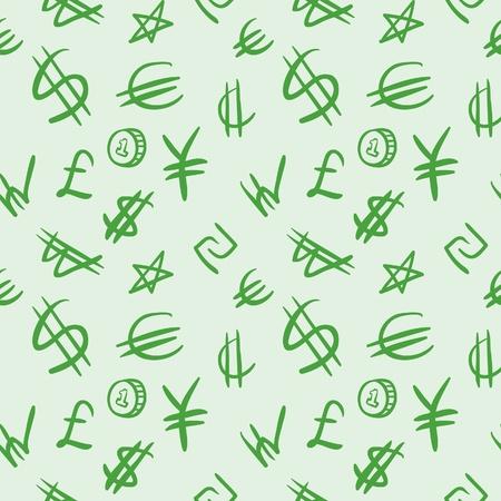 World currency symbols Illustration