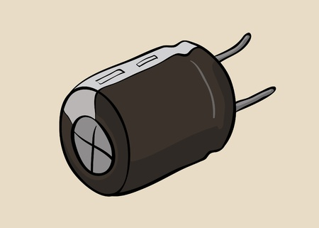 capacitor: Vector hand drawn capacitor element