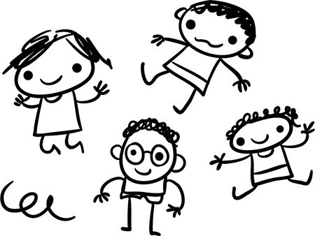 Kids doodle Illustration