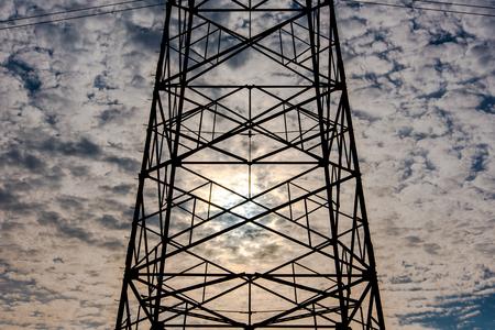 wire: High-voltage wire Stock Photo