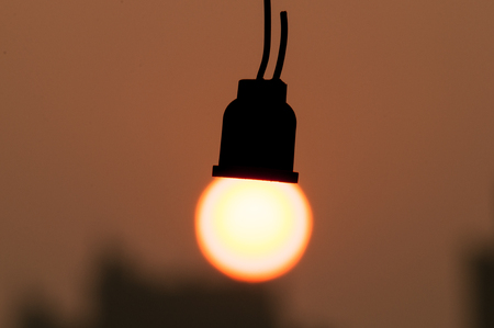 dislocation: Dislocation Art of light bulb