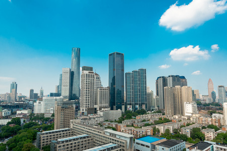 Landscape view of Heping city, Tianjin Editorial