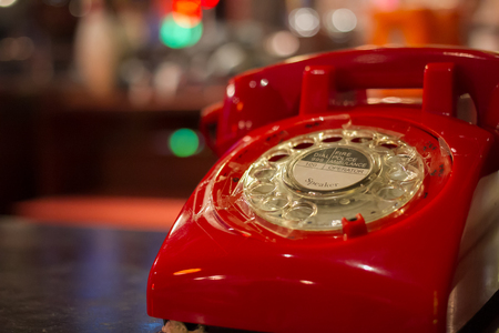 red telephone: Old red telephone
