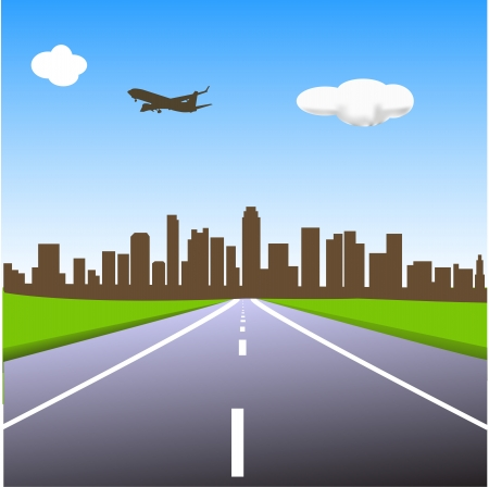 the way to city Stock Vector - 16025793