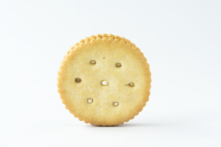 A cracker on the white background