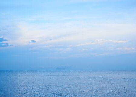 Calm sea, clouds, and blue sky Archivio Fotografico