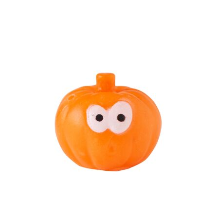 Happy Halloween. An orange cute pumpkins isolated on white background with clipping path. 写真素材