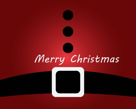 Merry Christmas. Background of Santa Claus belly in red and black belt.
