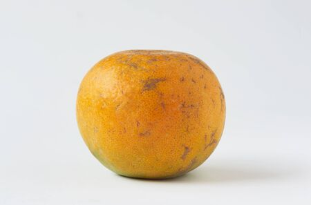 A tasty tangerine orange on white background