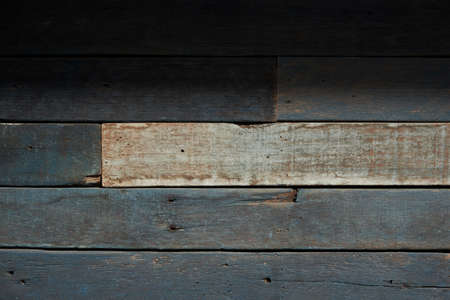 Background of old vintage wood with knot and nail holes Stockfoto