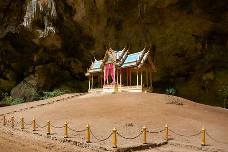 Prachuap Khiri Khan , Thailand-July 11,2020: The royal pavilion at Phraya Nakhon Cave landmark of Prachuap Khiri Khan province.