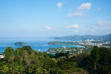 Scene of Kata beach, Karon beach and Patong beach from Phuket view point