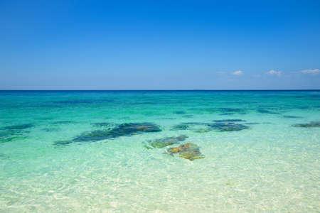 Background of clear turquoise sea at Koh Khai, Satun, Thailand Stock fotó
