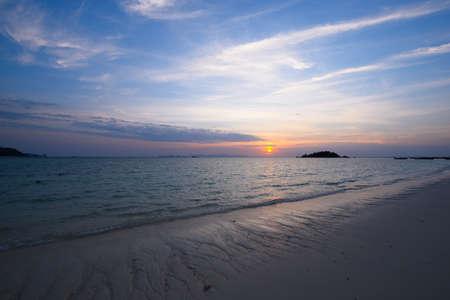 Scene of beautiful sky and sunrise at Lipe island, Satun province, Thailand. Stock fotó
