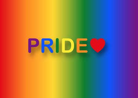 Pride month vector illustration. Rainbow background. Lesbian, gay, bisexual, transgender symbol. Stock fotó