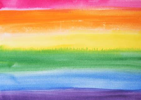 Background water color painting rainbow color. Gay, pride,LGBT, transgender, bisexual symbol.