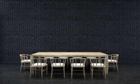 render: 3d render dining room