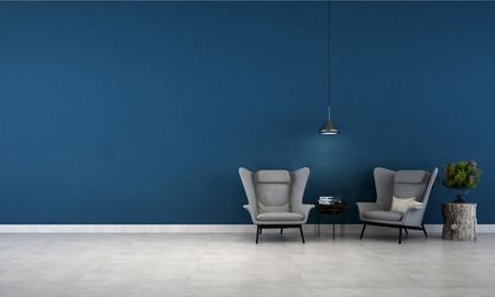 living: blue wall living room