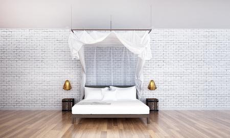 render: 3D render bedroom minimal