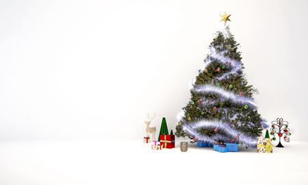 render: 3D render chrismas tree