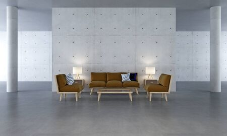 living room wall: living room design and concrete wall Stock Photo