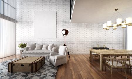 loft living: minimal loft living room