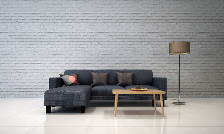 living room wall: white brick wall living room