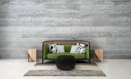 living room: modern loft living room