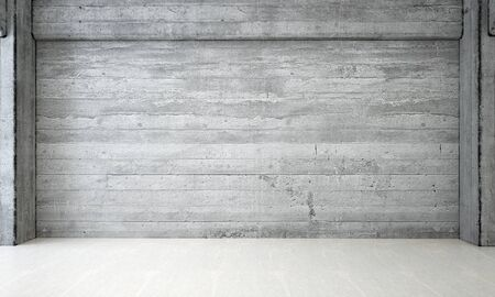 claen: The empty lounge and living room and concrete wall background Stock Photo