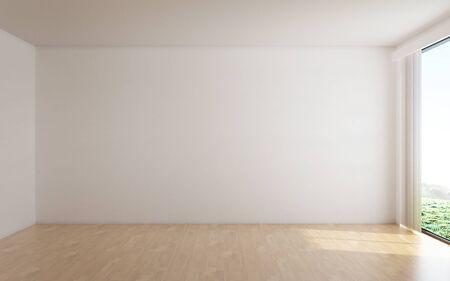 Het interieur van lege ruimte en witte muur achtergrond