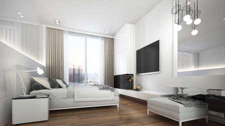 Modern interior design of minimal bedroom