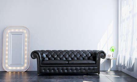 Modern cozy mock up interior design of living room