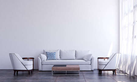 Modern luxury living room interior design Archivio Fotografico