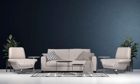 Modern interior design decoration of living room and wall texture background