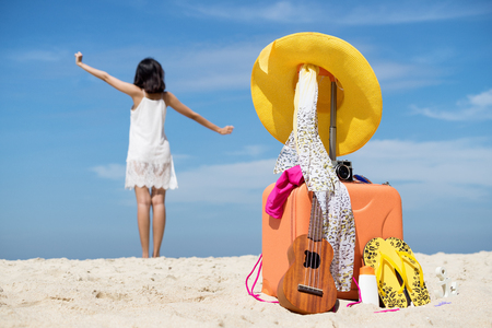 Summer holiday and traveling concept.