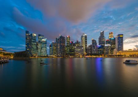 都市の景観シンガポール パノラマ泊コンセプト 写真素材