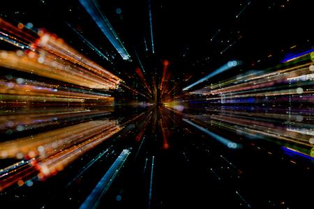 光ファイバーの抽象的な概念