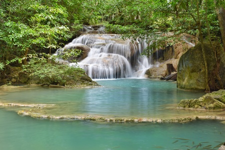 Waterfall blue in Thailand