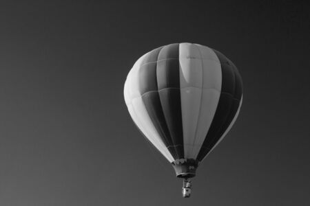 b w: b & w balloon in the air