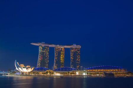 marina bay sand: marina bay sand at twilight