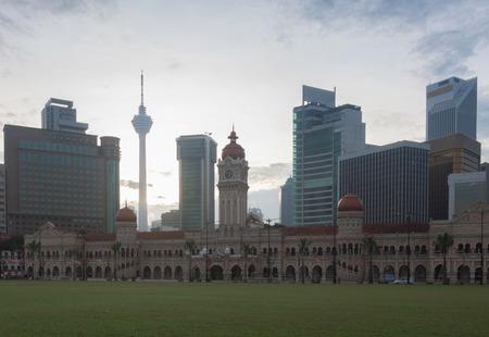 merdeka: Merdeka Square in downtown Kuala Lumpur at morning
