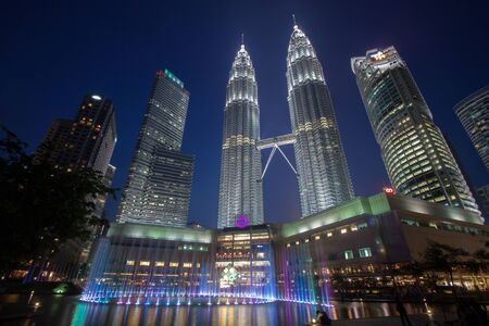 city scene: Kuala Lumpur city during blue hour.