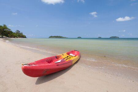 cayak: kayak on the beach at chang island