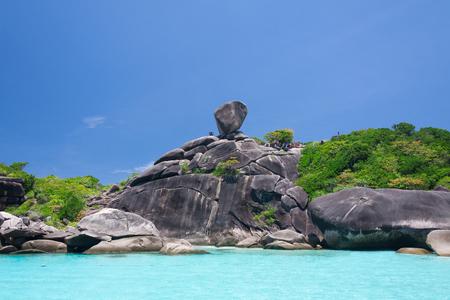 island: Beautiful sea and sky at Similan island,Thailand Stock Photo