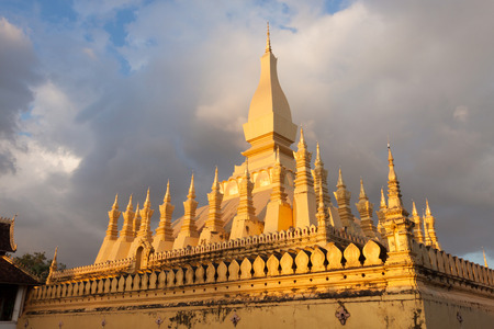 lao: Wat Phra That Luang, Vientiane, Lao PDR