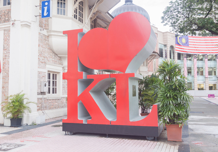 kl: I Love KL structure located in front of Kuala Lumpur city gallery.