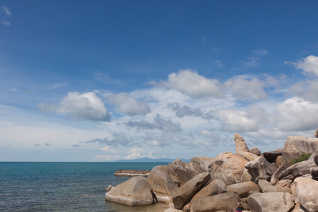 Famous Grandfather rock on Lamai Beach. Koh Samui, Thailand