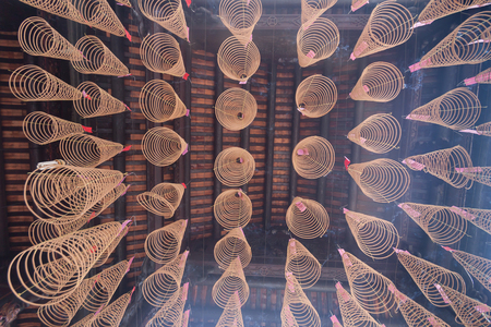 Spiral Incense at Thien Hau Temple in Ho Chi Minh City, Vietnam