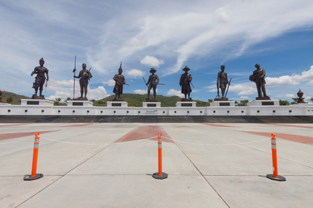 Ratchapak Park and the statues of seven former Thai kings were constructed by the Royal Thai Army under royal permission from His Majesty King Bhumibol Adulyadej. Editorial