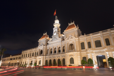 The peoples committee or Ho Chi Minh City Hall  in Ho Chi Minh City , Vietnam.